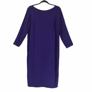 Humanoid eggplant scooped neck dress Small D124
